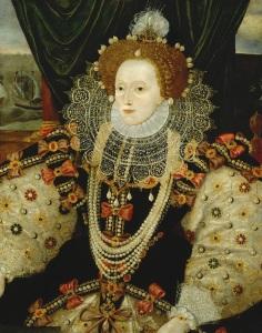 Retrato de Elizabeth I, pintado por George Gower.