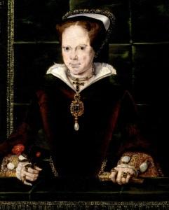 Maria I, primeira rainha coroada da Inglaterra (quadro de Hans Eworth).
