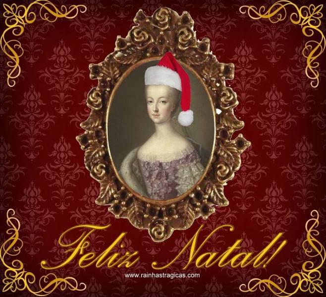 Cartão de Natal Maria Antonieta