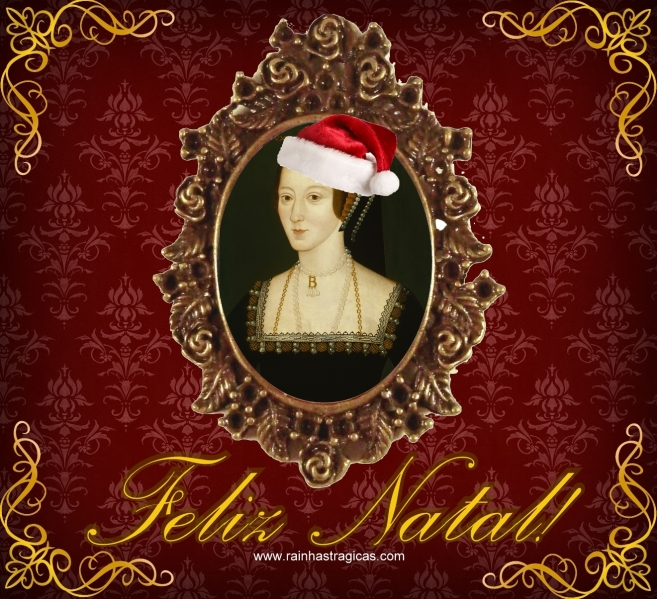 Cartão de Natal Ana Bolena