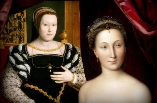 Catherine de Medici and Diane de Poitiers