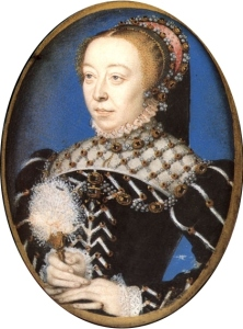 Catarina de Médicis, por François Clouet.