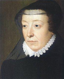 Retrato de Catarina de Médicis como viúva, pintado por François Clouet.