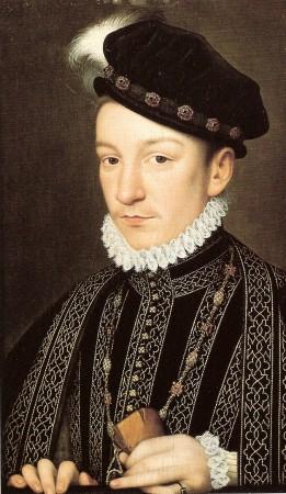 Retrato do rei Carlos IX da França, pintado por François Clouet.