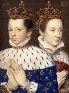 Ilustração de Francisco II e Mary Stuart, extraída do livros de horas de Catarina de Médicis.
