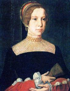 Possível retrato de Madalena de la Tour d'Aurvegne, mãe de Catarina, por artista desconhecido.