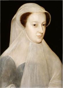 "Mary Stuart como ""La Reine en Blanche"", segundo obra de François Clouet."