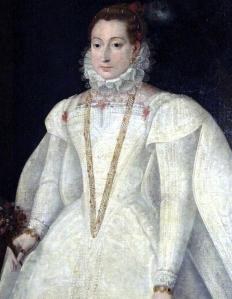 Retrato póstumo de Mary Stuart como noiva (escola alemã, início do século XVII).