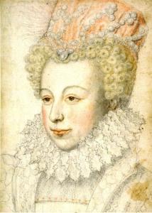Margarida de Valois em 1573 (rascunho de François Clouet).