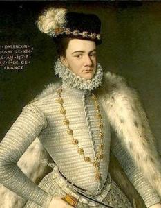Francisco, duque de Alençon, por François Clouet (1572).