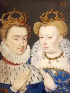 Ilustração do livro de horas de Catarina de Médicis, retratando Henrique de Navarra e Margarida de Valois.