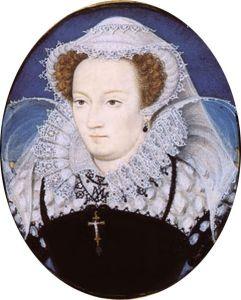 Retrato em miniatura de Mary Stuart, por Nicholas Hilliard (1578).