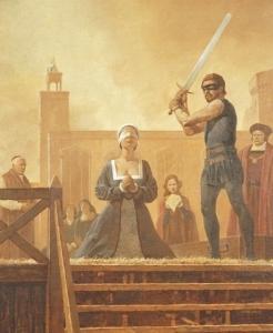 A execução de Ana Bolena (ilustraçã do Observer of Sunday).