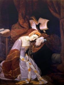 Ana Bolena, presa na Torre de Londres, por Edward Cibot (1835).