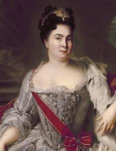 Catarina I da Rùssia, por Jean-Marc Nattier, em 1717.