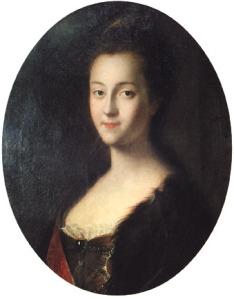 Retrato de Sofia já como grã-duquesa Catarina Alexeievna, por Louis Caravaque (1745).