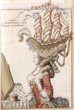 O vestuário extravagante de Maria Antonieta chocou as cortes da Europa e contribuiu para a sua queda.