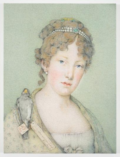 """Imperatriz Leopoldina, por Walmor Corrêa (2016). A tela faz parte da exposição """"Leopoldina: princesa da independência, das artes e das ciências"""", organizada pleo MAR."""