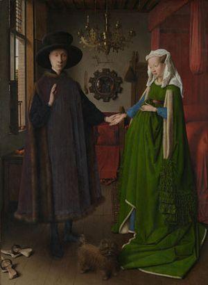 O Casal Arnolfini. Jan Van Eyck, 1434.