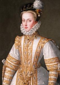 Ana da Áustria, rainha da Espanha, por Alonso Sánchez Coello (c. 1571).