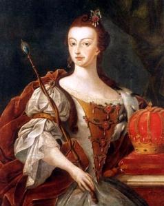 Dona Maria I, rainha de Portugal, por José Leandro de Carvalho (Museu Histórico Nacional, 1808).