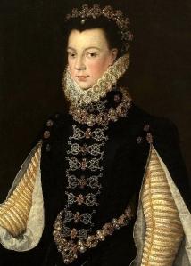 Isabel de Valois, rainha da Espanha, atribuído a Sofonisba Anguissola (1564).