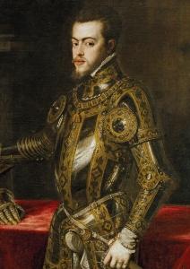 Felipe, príncipe das Astúrias, por Ticiano (1550).
