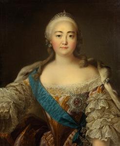 Czarina Isabel I da Rússia, por Iván Argunov.
