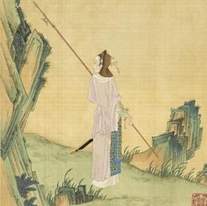 """Ilustração de Hua Mulan no """"Gathering Gems of Beauty""""."""