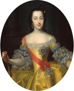 Grã-duquesa Ekaterina Alekseyvna, por Georg Christoph Grooth (c. 1745).