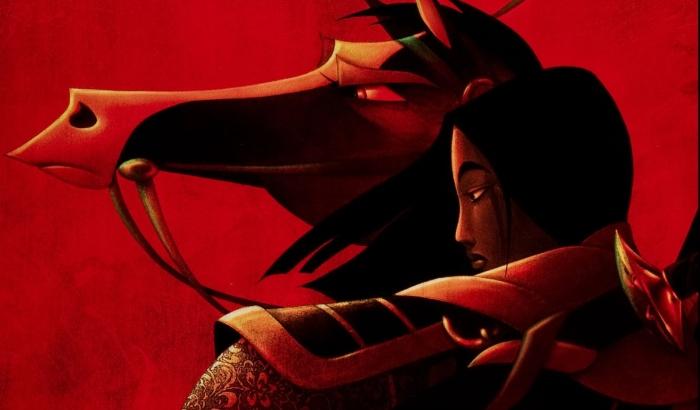 """Pôster da animação da Disney, """"Mulan"""" (1998)."""