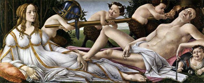 Vênus e Marte, de Sandro Botticelli (1483). National Gallery, Londres.