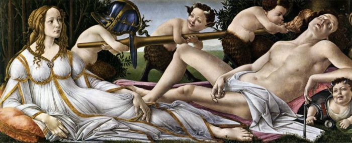 Vênus e Marte, de Sandro Botticelli (1483). National Gallery, Londres.