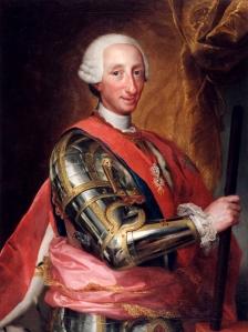 Rei Carlos III da Espanha, por Anton Raphael Mengs.