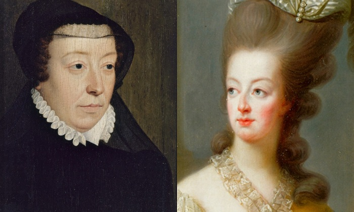 Catherine de Medici and Marie Antoinette